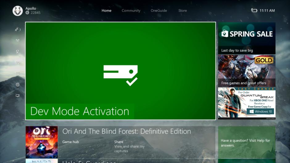 Xbox One – Ab heute kann jeder Entwickler sein