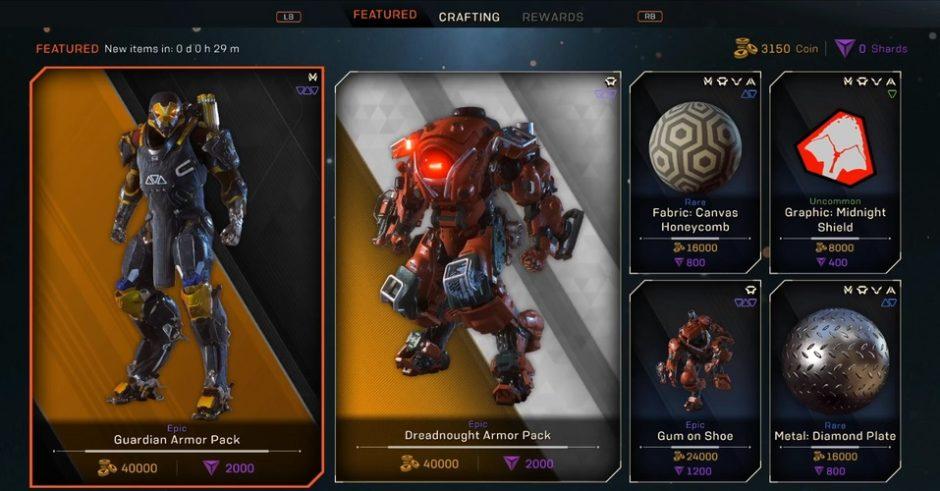 Anthem – EA verlangt 20 Euro für Epic Skins