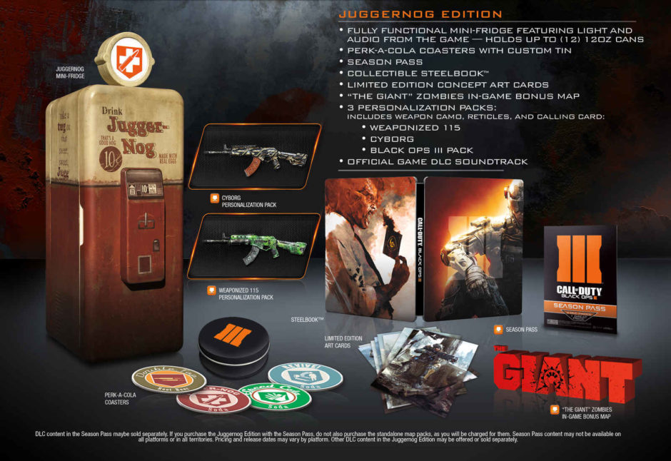 Call of Duty: Black Ops 3 - Collectors Edition mit Minikühlschrank Call Of Duty New Map Pack Release Date on