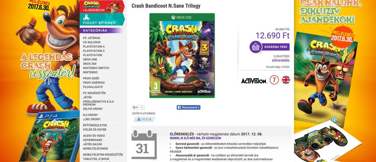 Crash Bandicoot N.Sane Trilogie