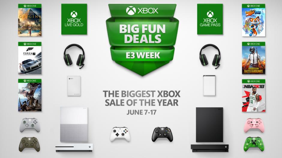 Xbox Big Fun Deals – Konsolen und Spiele zur E3 deutlich reduziert; erstmals auch die Xbox One X