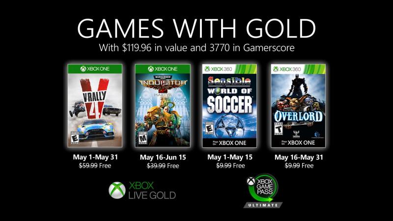 Die Games with Gold für Mai stehen fest