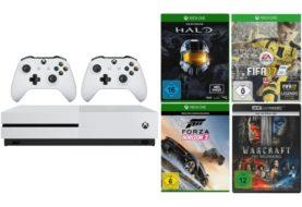 Media Markt Sparket: Jetzt eine Xbox One S mit drei Spielen, einer UHD-Blu-ray und zwei Controllern sichern