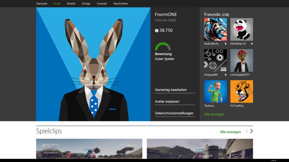 Xbox.com-Profil jetzt auch mit Screenshots