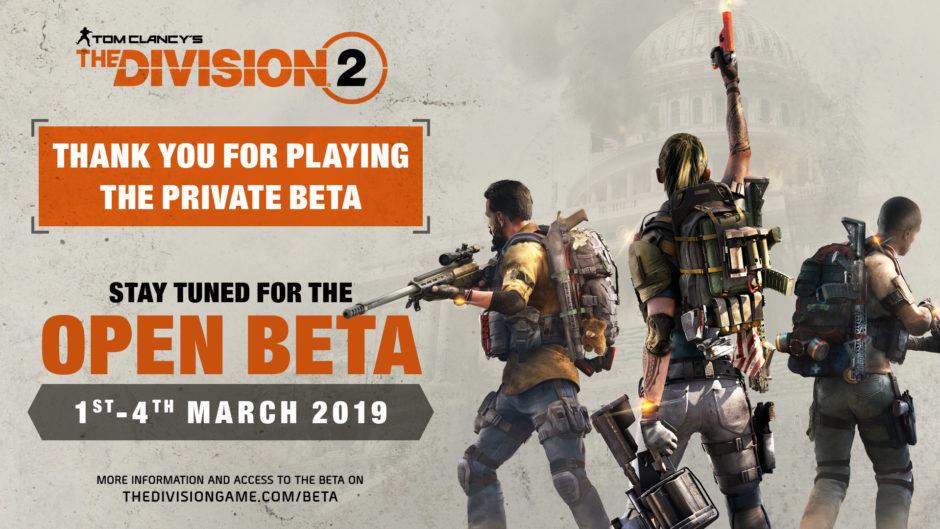 The Division 2 – Ubisoft kündigt Open Beta an