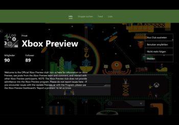 Xbox One Dashboard - Preview Update 1610: Dieses Update fixt die Clubs und die Pins