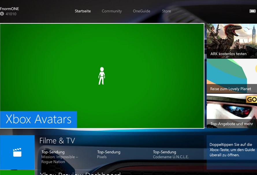 Xbox One – Avatar Store nun im Dashboard integriert