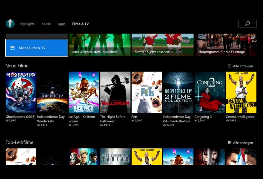 Xbox One – UHD-Filme für Insider verfügbar, demnächst auch für alle
