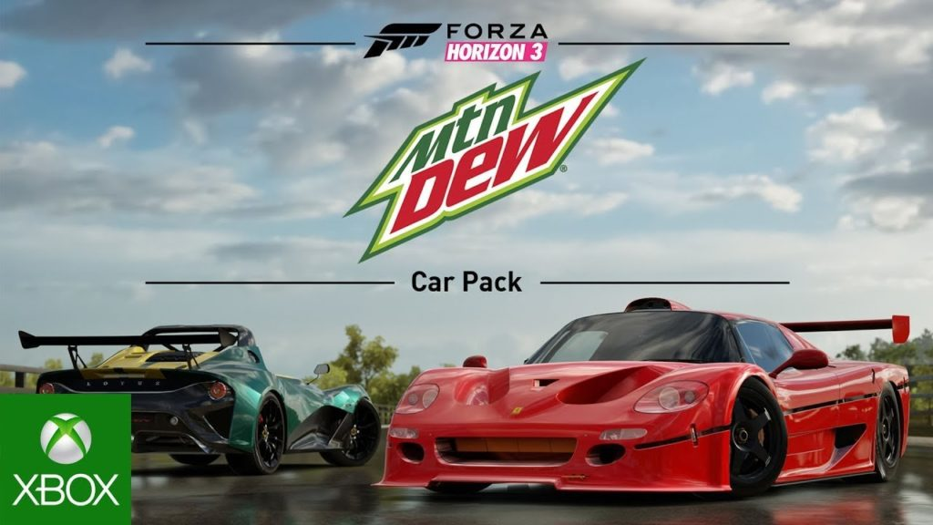 Forza Horizon 3 – Mountain Dew Autopaket steht in den Startlöchern