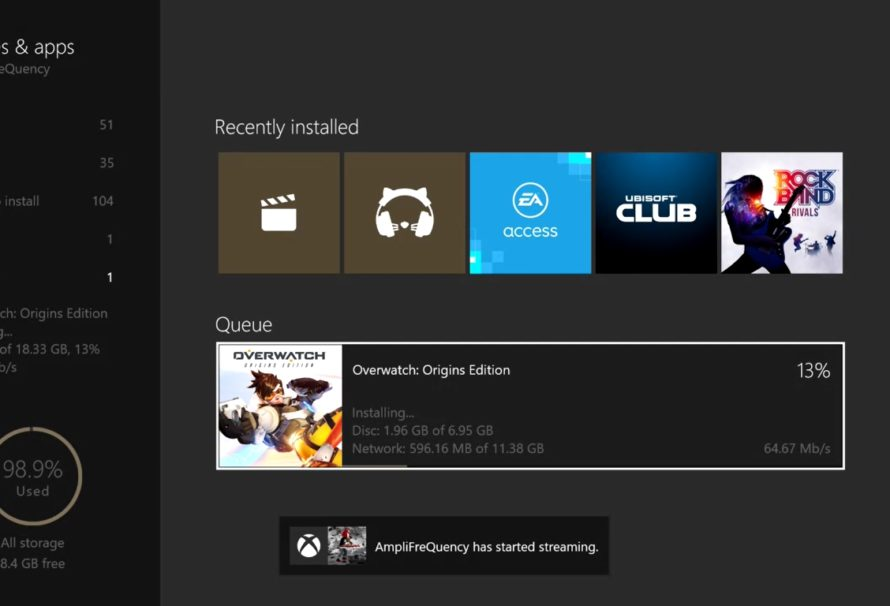 Xbox One Dashboard – Preview Update: Weiteres Verbesserungsupdate für Spieleinstallation erschienen