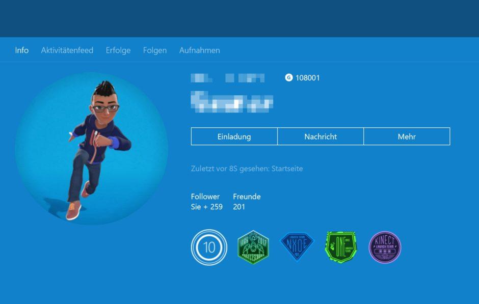 Xbox One Dashboard – Preview-Update Alpha & Skip Ahead 1806: Avatare 2.0 stehen zum testen bereit