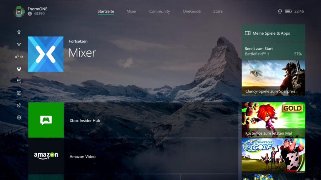 Xbox One Dashboard – Preview Update Alpha-Ring: Neues Update wartet mit neuen Features auf