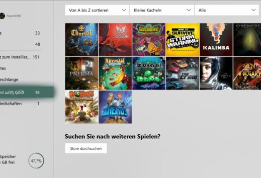 Xbox One Dashboard - April-Update wird für alle ausgerollt