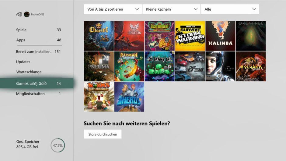 Xbox One Dashboard – April-Update wird für alle ausgerollt