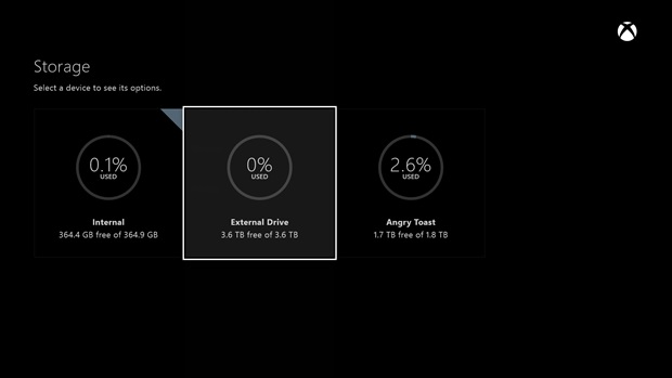 Xbox One – Keine Grenze für Festplattengröße