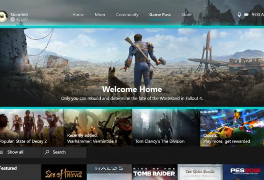 Xbox One Dashboard - Xbox Game Pass Tab nun dauerhaft im Dashboard erreichbar